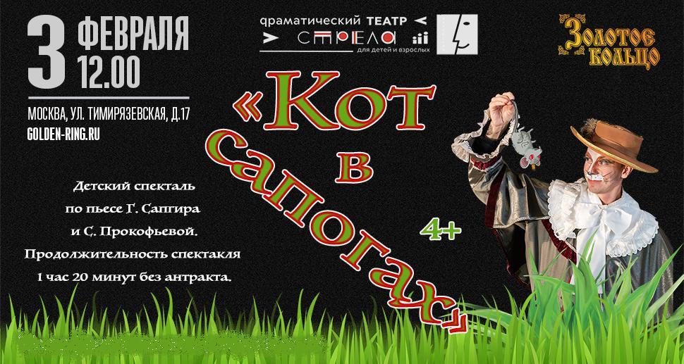 """Детский спектакль """"Кот в сапогах"""""""
