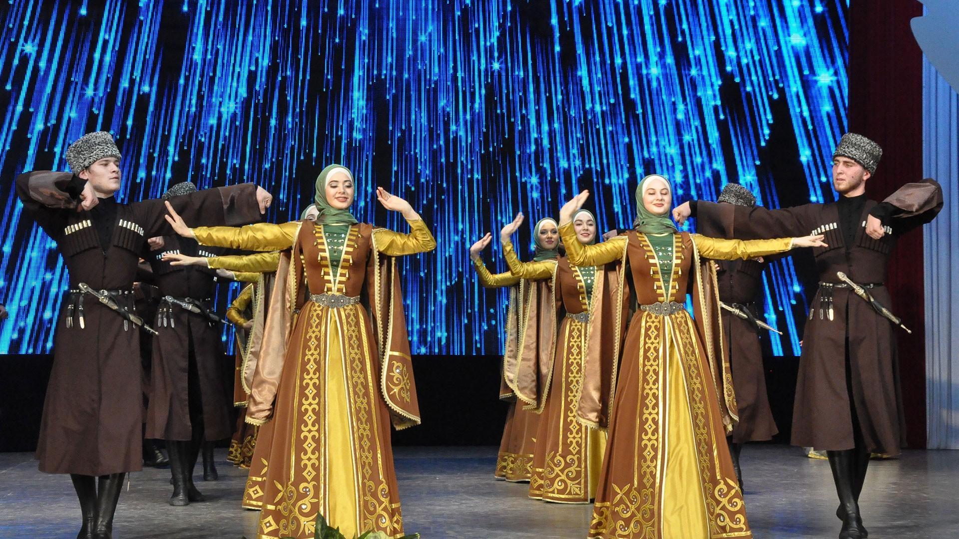 Юбилейный концерт чеченского Государственного ансамбля танца «Вайнах».